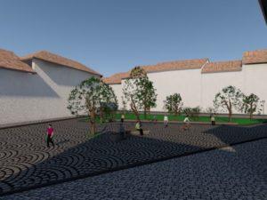 FOTO & VIDEO Piațeta din zona Aleii După Ziduri – Piața Sfatului va fi deschisă în această vară