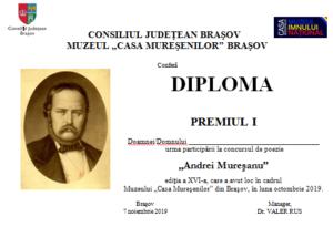 """Premii oferite, astăzi, la Muzeul ,,Casa Mureşenilor"""""""