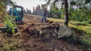 Au fost amenajați primii 200 de metri din traseele de biciclete de pe Postăvarul