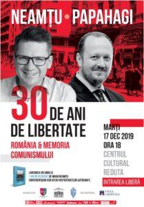 """""""30 de ani de libertate – România și memoria comunismului"""", conferință-eveniment, la Centrul Cultural Reduta"""