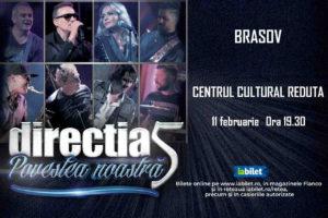 Concert Direcția 5, în februarie, la Brașov