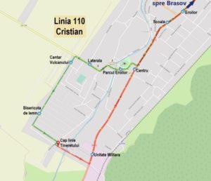 RATBV suspendă linia 110: Brașov – Cristian