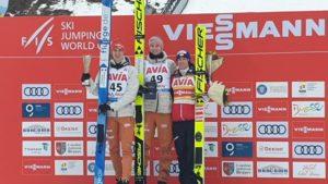 VIDEO+FOTO S-a încheiat prima etapă a Cupei Mondiale de sărituri cu schiurile de la Râșnov! Rezultate și declarații