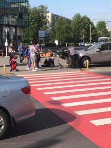 Biciclist lovit de mașină, acum, în Brașov