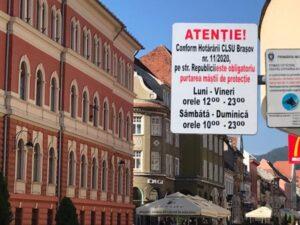 Panouri de avertizare, în centrul Brașovului!