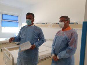 S-au terminat lucrările de modernizare la etajul I al corpului B de la Spitalul Județean