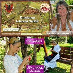 """ÎN DIRECT """"Artizanii cetății"""". Astăzi, Alina Delcea"""