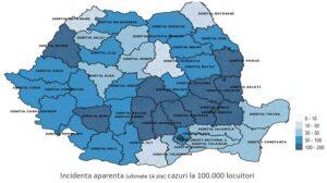 INSP: Trendul epidemiei de COVID-19, descendent în ultima săptămână în Brașov