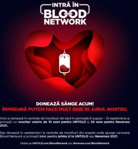 Caravana Blood Network ajunge la Brașov! Donați sânge sau plasmă și mergeți la Untold sau Neversea!