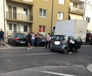 Copil lovit de mașină!
