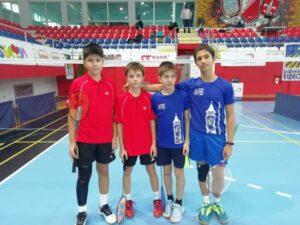 Micii sportivi de la Kids Tâmpa Brașov, campioni la Youth Cup Badminton Cup Novi Sad 2020