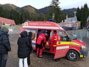Două persoane accidentate pe pârtie au avut nevoie de intervenția echipajelor SMURD!