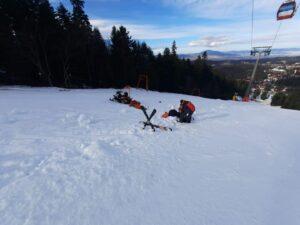 Salvamontiștii au avut, astăzi, patru intervenții pe pârtiile de schi din Poiana Brașov