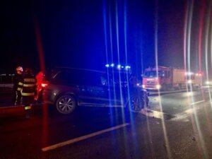 Accident pe DN1, la ieșirea din Ghimbav spre Codlea