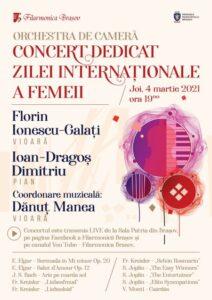 Concert de Ziua Femeii, diseară, la Filarmonica Brașov