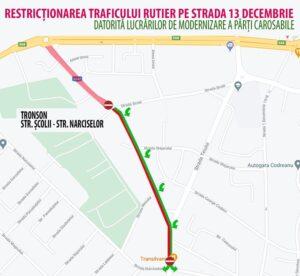 Restricții de circulație pe strada 13 Decembrie din Făgăraș