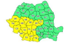 Un nou cod galben de ploi, la Brașov!