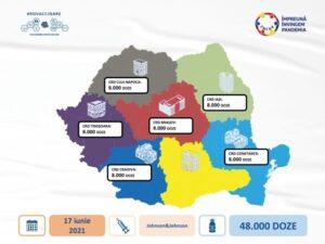 O nouă tranșă de vaccin Johnson&Johnson ajunge la Brașov
