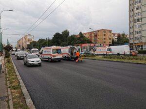 VIDEO Accident cu victimă, în zona Gării Braşov