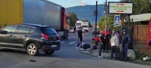 FOTO Accident între un camion și un ATV, pe DN73. Trafic blocat între Tohanu Nou și Tohanu Vechi