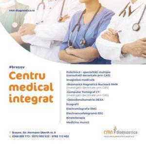 Servicii medicale decontate de CAS în cadrul RMN Diagnostica Brașov – centru medical integrat