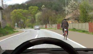 Noi reguli pentru depășirea bicicletelor și a trotinetelor electrice